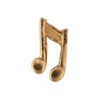 Music Note - Gold Charm